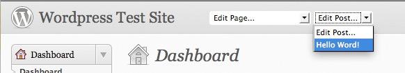 Wordpress Plugin: dp Admin Page/Post Menu